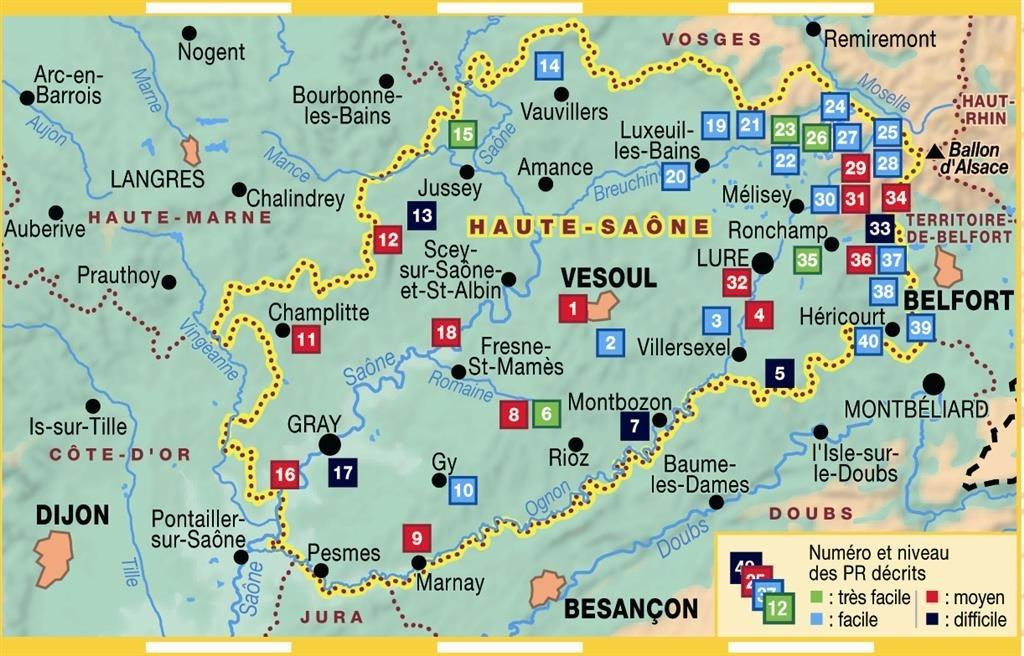 Topoguide la haute saone a pied f d ration fran aise de for 3966 haute saone