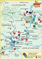 Carte Topoguide La vallée de la Vilaine... à pied®