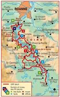 Carte topoguide Autour des gorges de la Loire