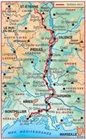 Carte topoguide du Pilat à la Méditerranée par les Balcons du Rhône - GR42