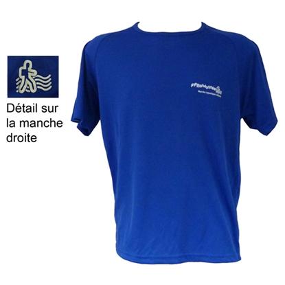 T-Shirt technique bleu Marche Aquatique Côtière