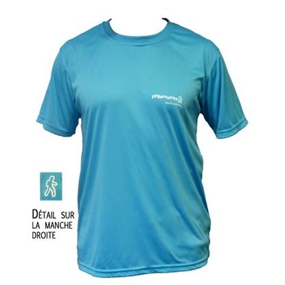 T-Shirt technique bleu Marche Nordique