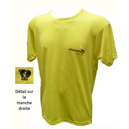 T-Shirt technique jaune Rando Santé