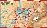 Carte topoguide Pays du Mont Blanc