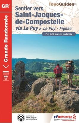 Topoguide sentier vers Saint Jacques de Compostelle Le Puy Figeac - GR 65