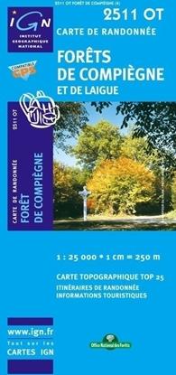 Carte IGN Forêts De Compiègne Et De Laigue