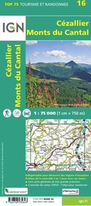 Carte IGN - Cézallier - Monts Du Cantal