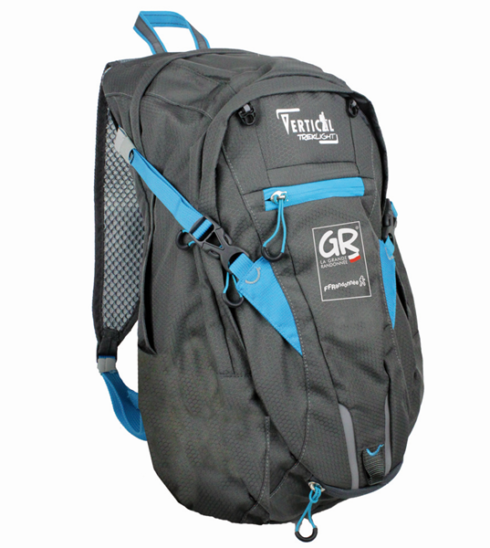Sac Active Respire 18L FFRandonnée, Dark Grey / Eletric Blue