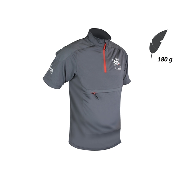 Image sur T-Shirt Zippé Homme Drayere GR - FFRandonnée by Vertical