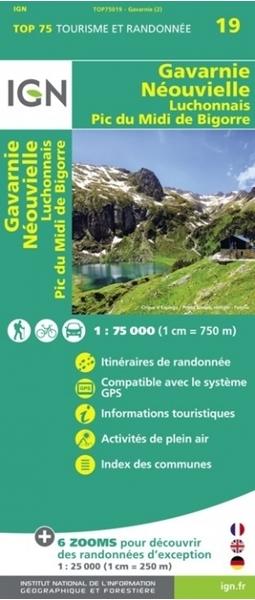 Carte IGN Gavarnie, Néouvielle, Luchonnais, Pic Du Midi De Bigorre