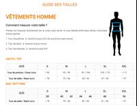 Guide des tailles Vertical