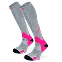 Chaussette Trek Compression Gris Rose - BV Sport