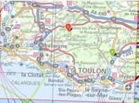Carte IGN_Provence - Sainte-Victoire - Sainte-Baume -Calanques