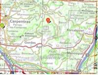 Carte IGN Luberon - Mont Ventoux