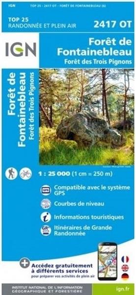 Carte IGN Forêt De Fontainebleau