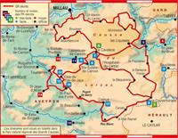 Plan topoguide Tour du Larzac, Templier-Hospitalier