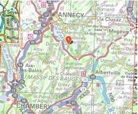 Carte IGN Chaîne des Aravis - Massif des Bauges