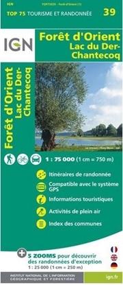 Carte IGN Forêt d'Orient - lac du Der