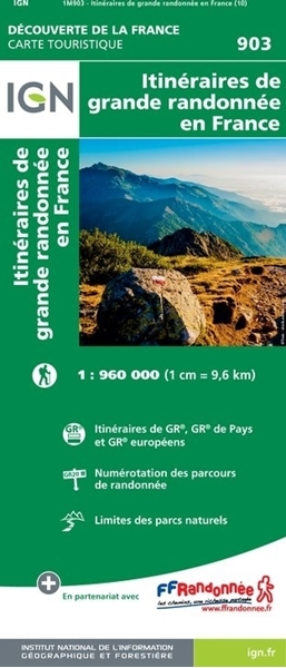 Carte IGN - des GR® et GRP® en france