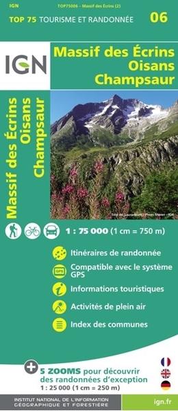 Carte Massif Des Écrins - Oisans - Champsaur - TOP75006