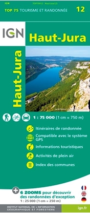 Carte IGN - Haut-Jura - TOP 75012