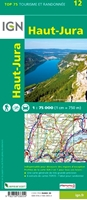 Carte IGN - Haut-Jura - verso - TOP 75012