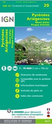 Carte IGN - Pyrénées Ariegeoises - Mont Valier - Pique D'Estats - TOP 75020