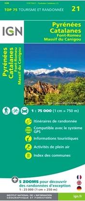 Carte IGN - Pyrénées Catalanes - Font-Romeu, Massif Du Canigou - TOP75021