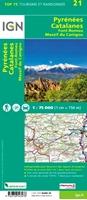 Carte IGN - Pyrénées Catalanes - Font-Romeu, Massif Du Canigou - verso - TOP75021