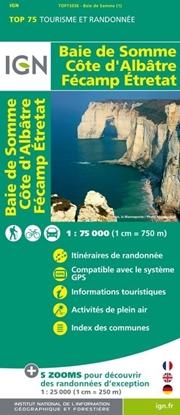 Carte IGN - Baie De Somme - Côte D'Albâtre - Fécamp Etretat - TOP 75036