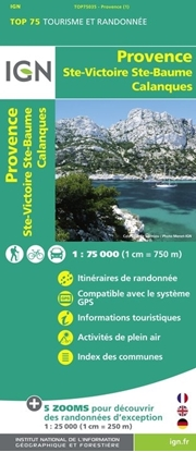Carte IGN_Provence - Sainte-Victoire - Sainte-Baume -Calanques - TOP 75035