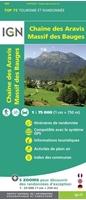 Carte IGN Chaîne des Aravis - Massif des Bauges - TOP 75032