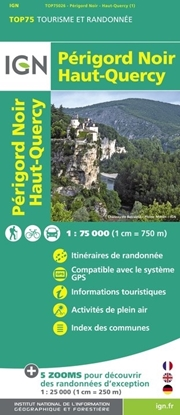 Carte IGN Périgord Noir - Haut-Quercy - TOP 75026