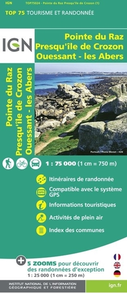 Carte IGN Pointe du Raz - TOP 75024