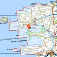 Carte IGN Pointe du Raz - TOP 75024