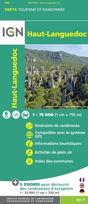 Carte IGN Haut-Languedoc - TOP 75022