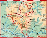 Carte Topoguide Tour des Monts d'Aubrac - GR® 6