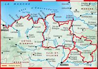Carte Topoguide Côte d'Emeraude : les Chemins du Mont-Saint-Michel
