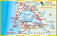 Carte Autour du Bassin d'Arcachon... à pied