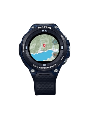 CASIO-Pro-Trek-Smart-WSD-F20A-bleue