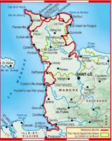 Carte topoguide tour du Cotentin carte - GR223
