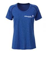 T Shirt technique bleu chiné FFRandonnée Femme