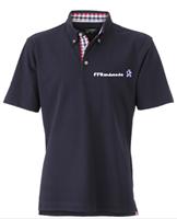 Polo FFRandonnée bleu marine