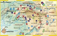 Carte topoguide le Pays du Ventoux... à pied®
