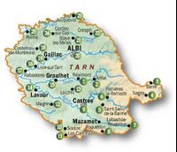 Carte topoguide les Sentiers des Patrimoines du Tarn