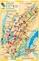 carte Le Parc naturel régional du Haut-Jura... à pied®