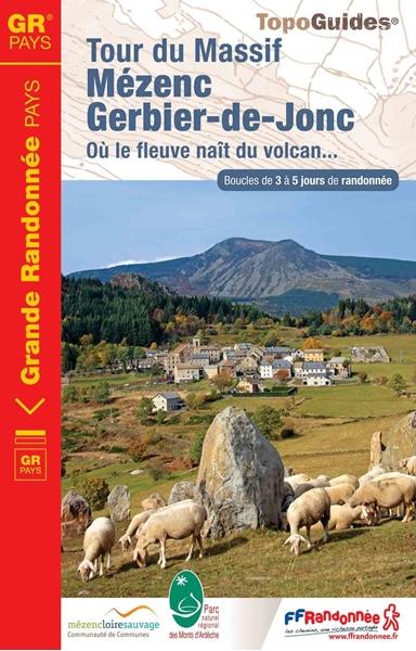 Topoguide tour du Massif Mézenc Gerbier-de-Jonc