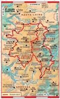Plan topoguide tour du Massif Mézenc Gerbier-de-Jonc