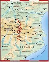 Carte Topoguide Sur les traces des Cathares - Le Chemin des Bonshommes GR® 107