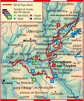 Carte Topoguide Le Pays d'Entraygues